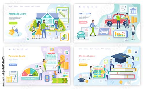 Fotografía  Mortgage and Personal Loan, Student Money Set
