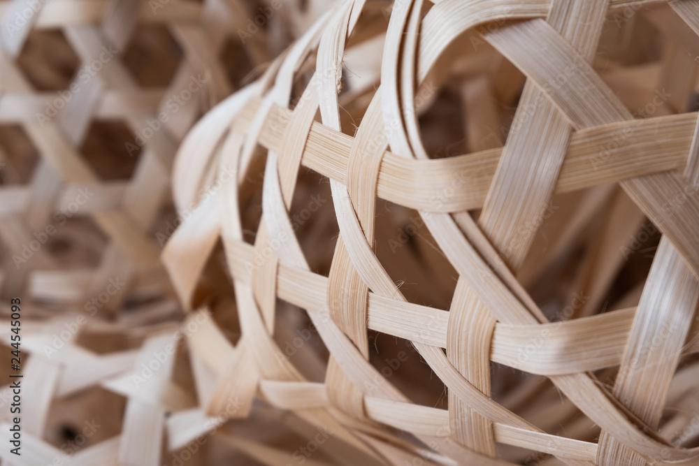 Fototapety, obrazy: Small Round bamboo basket, Thai traditional basketry handmade