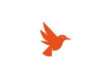 Bird Flying, Yellow Wings Logo