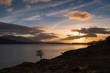 A sunset over Loch Linnhe near the Corran Narrows and Ardgour, Lochaber, Scotland.