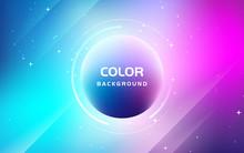Abstract Fluid Gradient Color Background. Trendy Liquid Shape Composition. Bright Gradient Color.