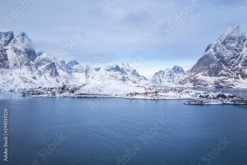 Reine during winter, Lofoten Islands, Norway