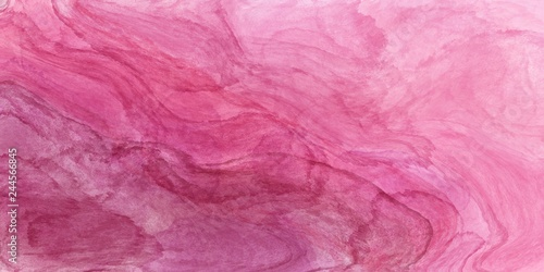 Abstract pink and white watercolour paint texture background.  - 244566845