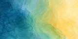 Abstract colorful watercolor paint blue green yellow background liquid fluid texture for background, banner - 244567844