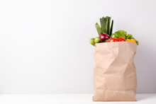 Grocery Shopping Bag With Food...