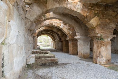 Staande foto Historisch geb. Ancient Tripolis Site in the Yenicekent prefecture of Buldan District of Denizli province of Turkey.