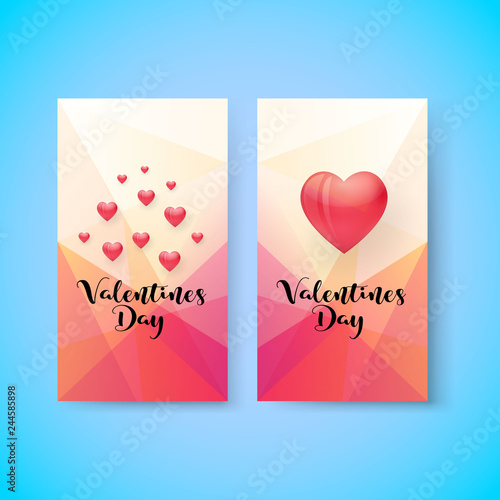 Fototapeta Valentines day sale vertical banner, vector, illustration, eps file obraz na płótnie