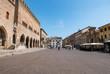 Tourists walking on Cavour square in Rimini