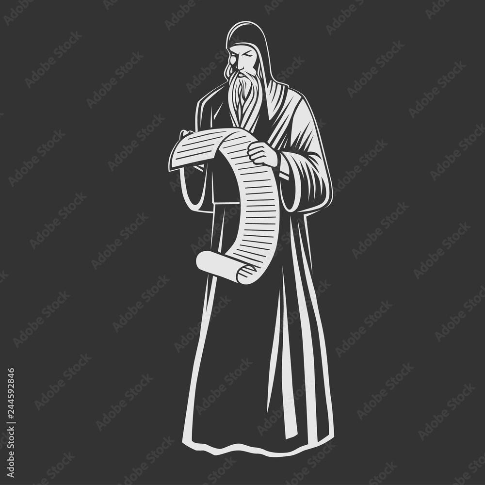Fototapety, obrazy: Orthodox monk. Orthodox priest.