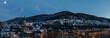 Lennestadt Altenhundem Panorama abends mit Vollmond