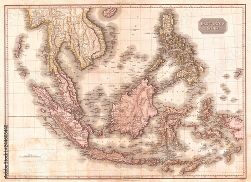 1818, Pinkerton Map of the East Indies and Southeast Asia ...
