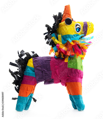 Isolated Mexican Burro Donkey Piñata - Buy this stock photo
