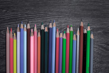 Coloured Pencils Isolated On T...