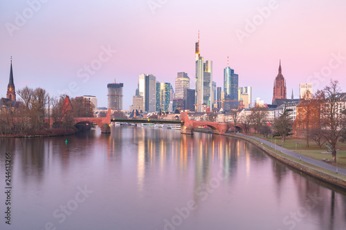 Photo Stands Kuala Lumpur Frankfurt am Main in the morning, Germany