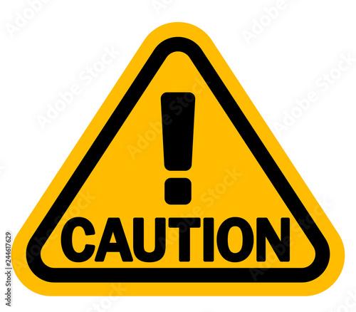 感嘆符 注意 警告サイン 「CAUTION」 Canvas Print