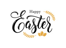 Happy Easter Hand Drawn Lettering.