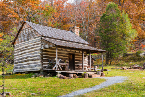 Canvas Print Appalachian Homestead Cabin