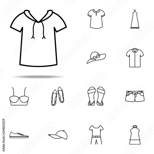 Fotografía  hood icon. Summer Clothes icons universal set for web and mobile