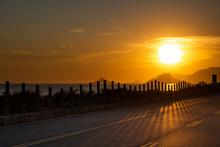 Recreio Beach By Sunset With P...