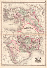 1870, Johnson Map Of Turkey, P...
