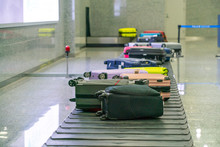 Suitcases On Baggage Claim Con...