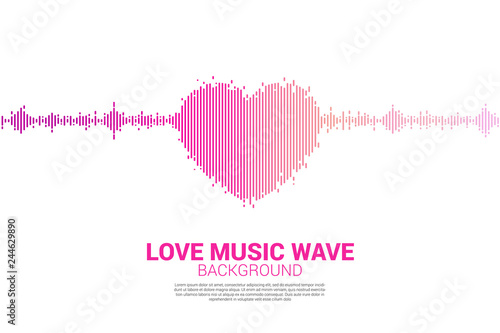 Fotografía  Sound wave heart icon Music Equalizer background