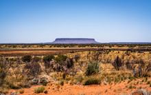 Mount Conner Or Attila Mountain Scenic View In Central Outback Australia
