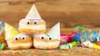 Leinwandbild Motiv Berliner Pfannkuchen Krapfen Rosenmontag Fasching Party
