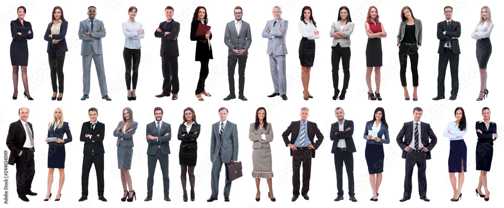 Fototapety, obrazy: successful business people isolated on white background