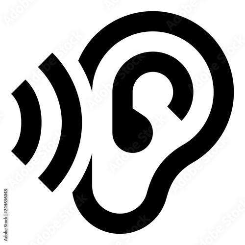 Listen Hearing Ear Vector Icon.eps Fototapet