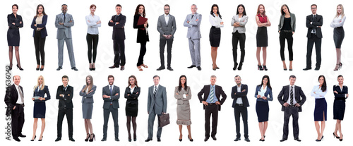 Fotografía  successful business people isolated on white background