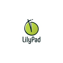 Lily Pad Logo Vector Icon Illustration