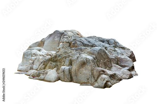 Photo Cliff stone located part of the mountain rock isolated on white background