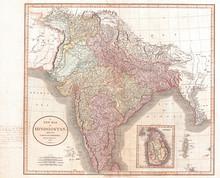 1806, Cary Map Of India Or Hindoostan, John Cary, 1754 – 1835, English Cartographer