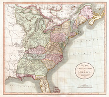 1806, Cary Map Of The United S...