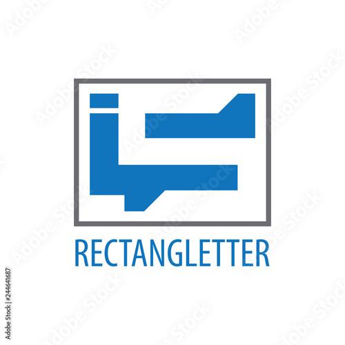 Fotografie, Obraz  Rectangle initial letter IS logo concept design