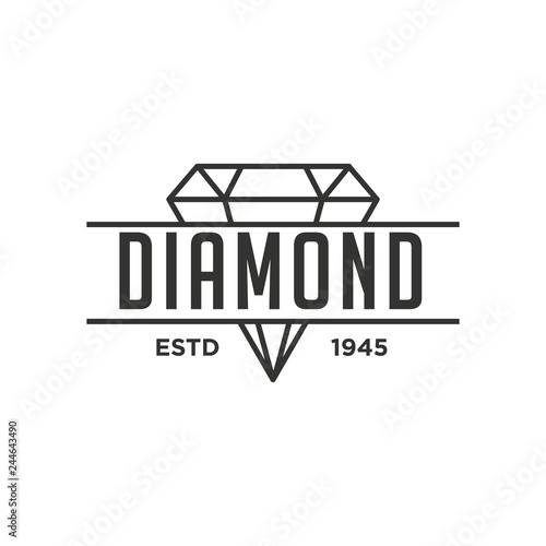 Diamond Logo Concept Canvas Print