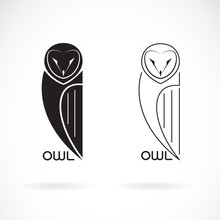 Vector Of An Owls Design On White Background., Bird Icon., Wild Animals. Easy Editable Layered Vector Illustration.