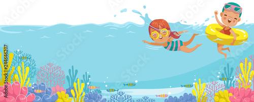 Fotografija Girls swimming