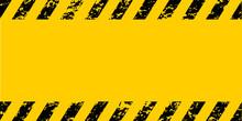 Warning Frame Grunge Yellow An...