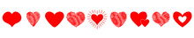 Red Heart Icon Set. Happy Vale...