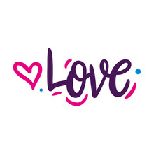 I Love You Hand Drawn Vector Lettering. Love Romantic Quote.