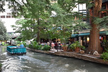 Riverboat On The Riverwalk In San Antonio, Texas