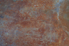 Red Rust On Metal Surface Or M...