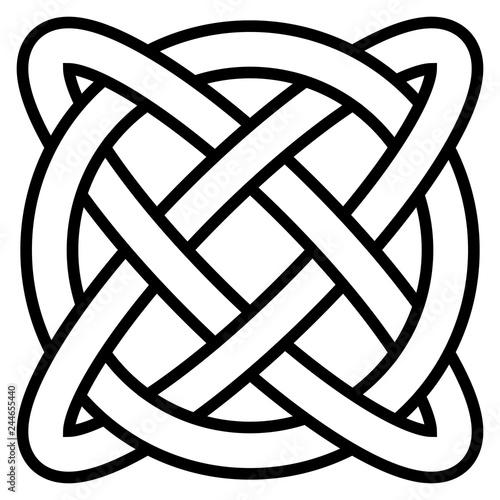 Fotografia Celtic knot symbol of eternal life infinity, vector amulet symbol of longevity a