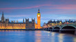 canvas print picture - Big Ben and Houses of parliament at twilight