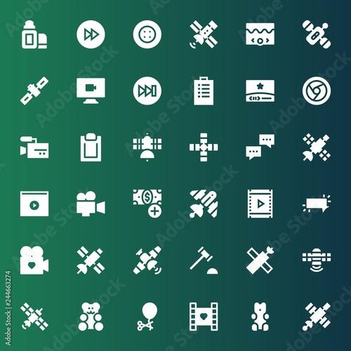 Fotografía  glossy icon set