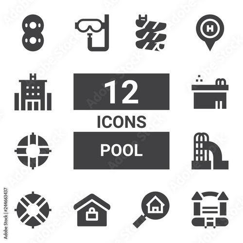 Photo  pool icon set