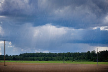 Rural Landscape With Rain Stor...