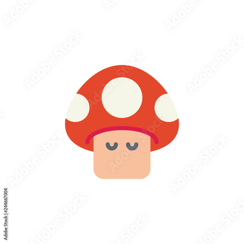 Photo  Arcade game mushroom flat icon, vector sign, colorful pictogram isolated on white